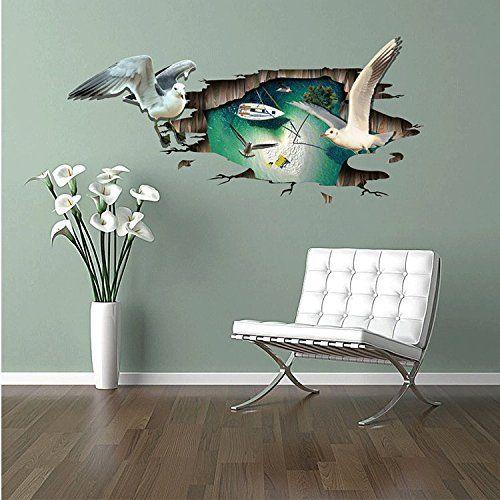 Woooow® DIY 3D Seagull Removable Mural PVC Wall Art Decal... https://www.amazon.com/dp/B01H1GHR4C/ref=cm_sw_r_pi_dp_zXGCxbY1J7R5F