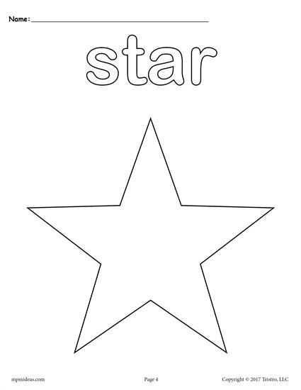 12 Shapes Coloring Pages Shape Coloring Pages Star Coloring