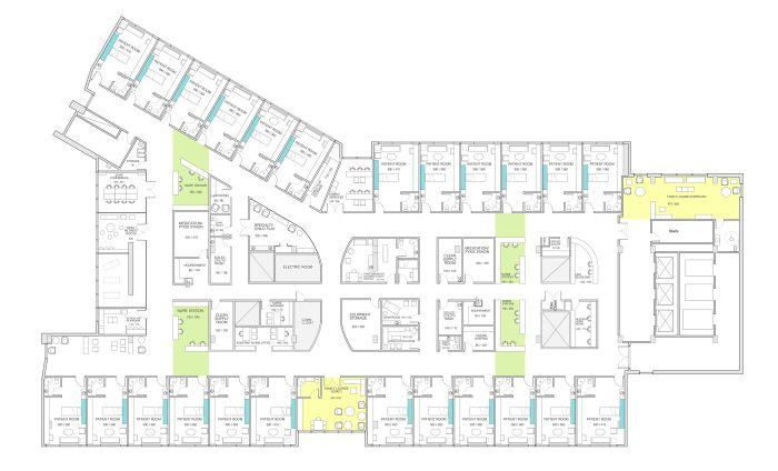 Children S Hospital Floor Plan Hospital Floor Plan Children Hospital Design Hospital Plans