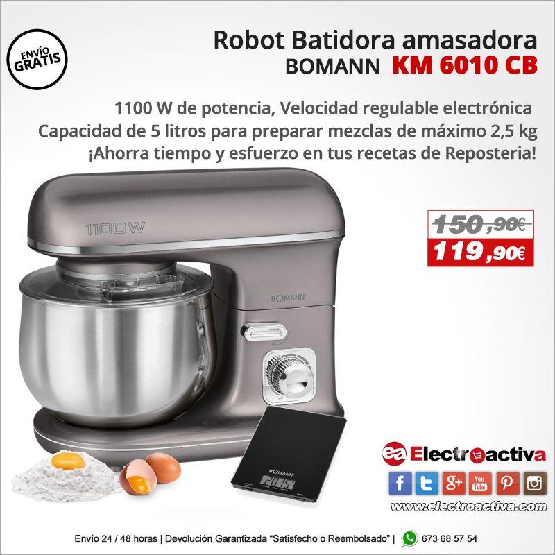 Bomann Km 6010 Cb Robot Batidora Amasadora Reposteria Capacidad