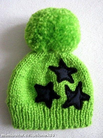 Ručně pletené zimní čepičky