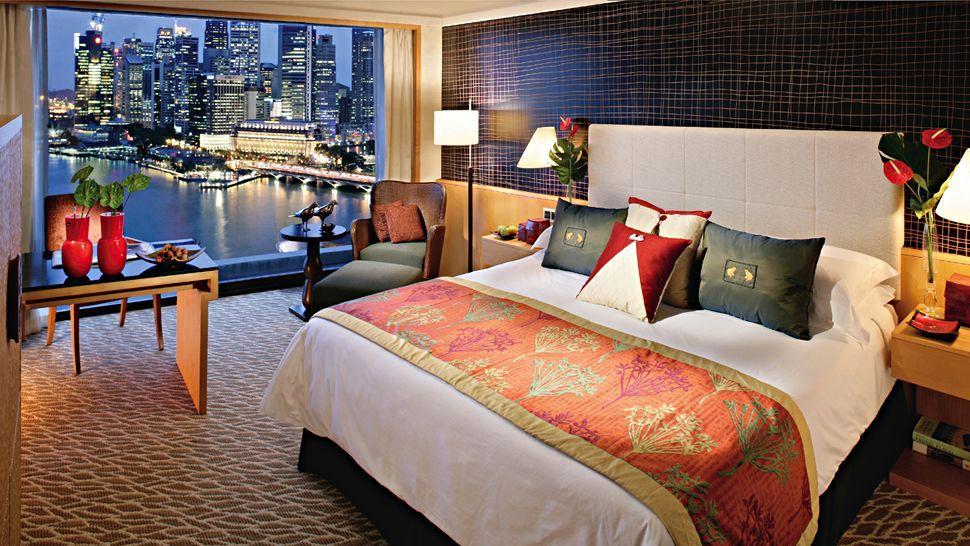 Mandarin Oriental Singapore Downtown Core Singapore Hotel Interiors Comfortable Bedroom Hotel