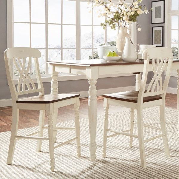 Mackenzie White Counter Height Chair (Set Of 2) Accent Chairs /Dining Room  Ch
