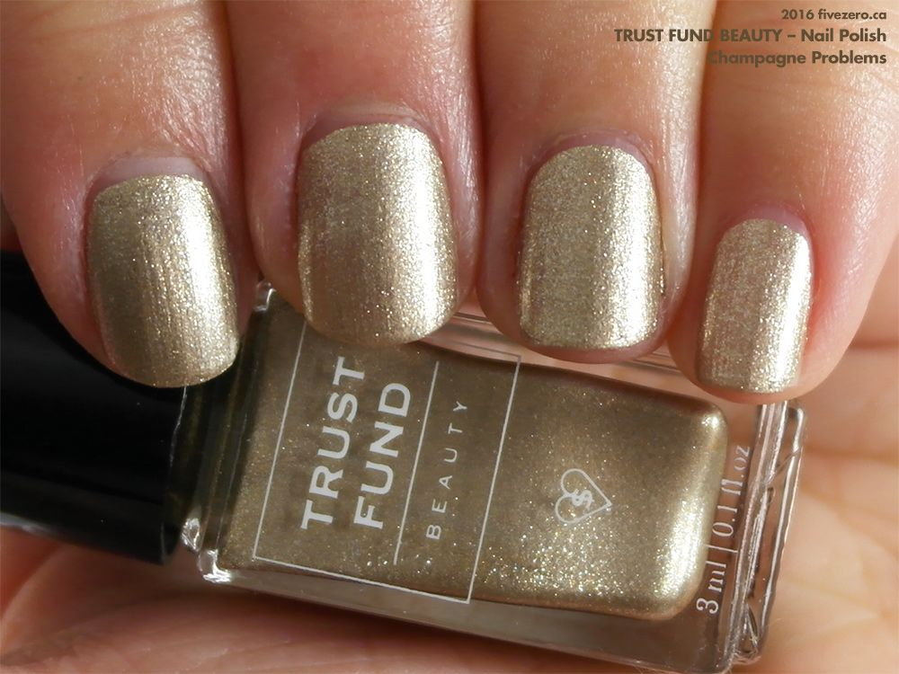 Trust Fund Beauty Nail Polish in Champagne Problems (swatch by ...