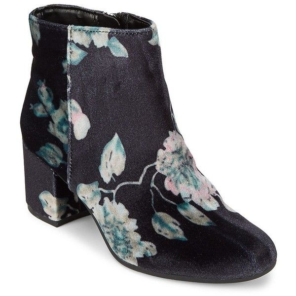 5b5f68aa744476 Circus by Sam Edelman Women s Vikki Floral Velvet Booties ( 53) ❤ liked on  Polyvore featuring shoes