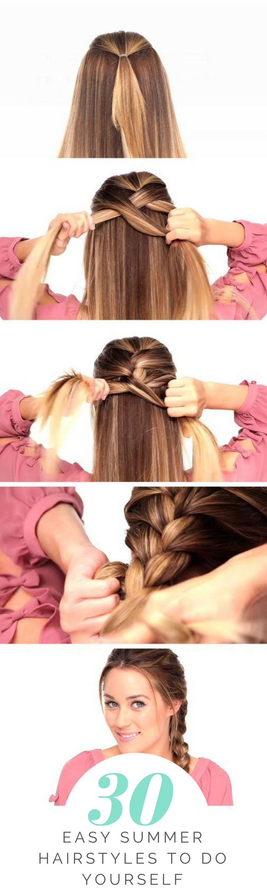 easy summer hairstyles to do yourself bow braid pinterest