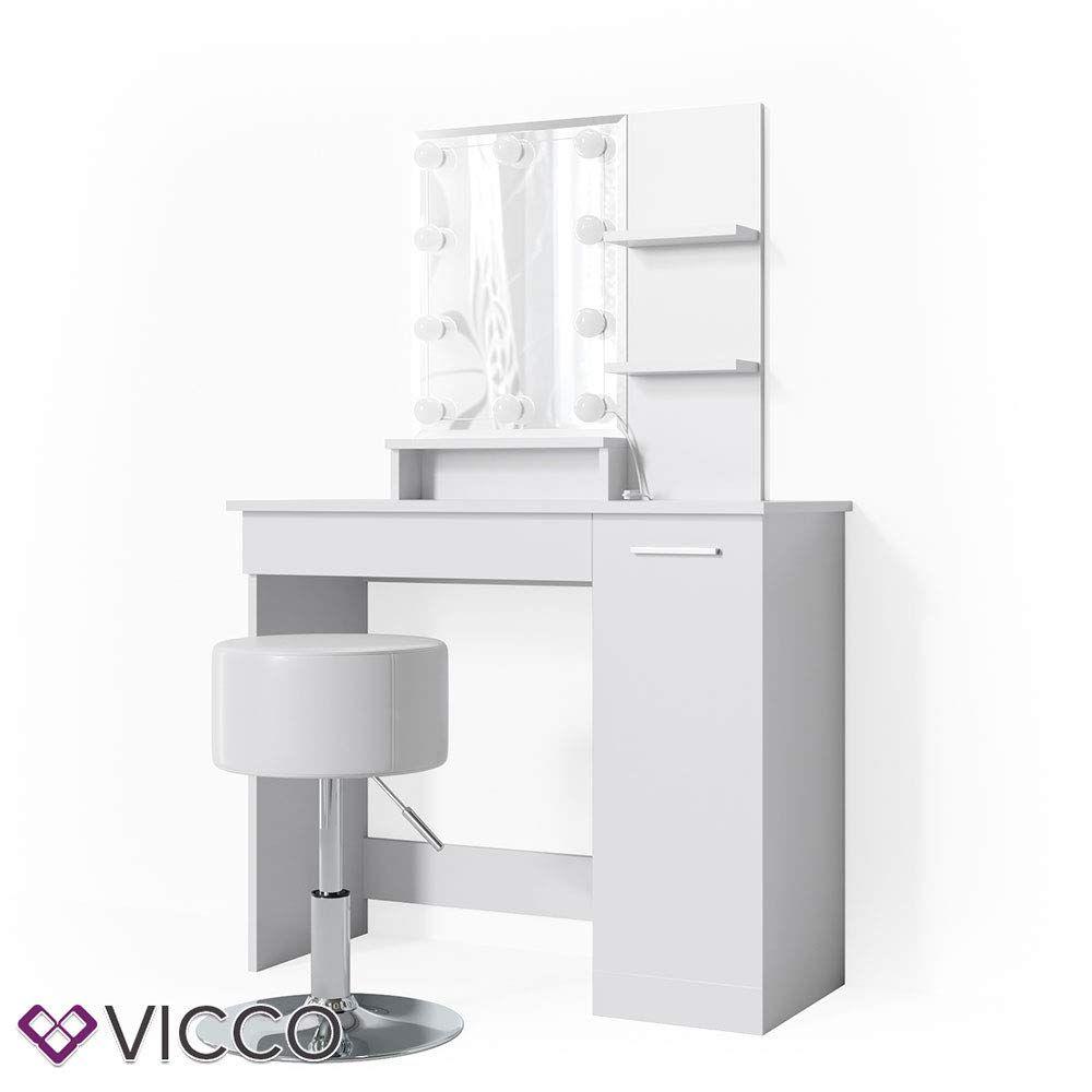Vicco Julia Led Dressing Table White Including Stool Cosmetic Table Dressing Table Mirror Amazon De Dressing Table Set Dressing Table Mirror Dressing Table