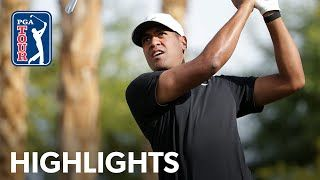 In the second round of The American Express 2020, Tony Finau turned in the round of the day, carding birdie on seven of his last nine holes on his way to a 10-under 62 at the Nicklaus Tournament Course. Finau's low round on the day would get him to 13-under for the tournament,...    #highlights #shot #championship #usa #club #swing #golfcourse #pgatour #pga #tour #roundrecap #drive #golf #theamericanexpress #2020 #pgawestprivateclubhouse&golfcoursesandothers #tony #finau #shoots #10-under