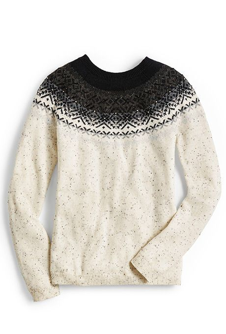 A glistening fair isle sweater in Donegal yarns is the perfect ...