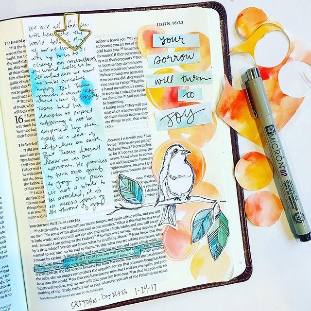 John // bonniewid Bible art journaling, Beautiful word
