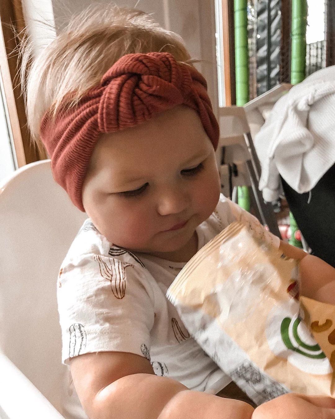 Headband with Bow Baby Girl Flower Knotted Headband Turban Headband Top Knot Navy Blue Floral Baby Headband Ready to Ship!