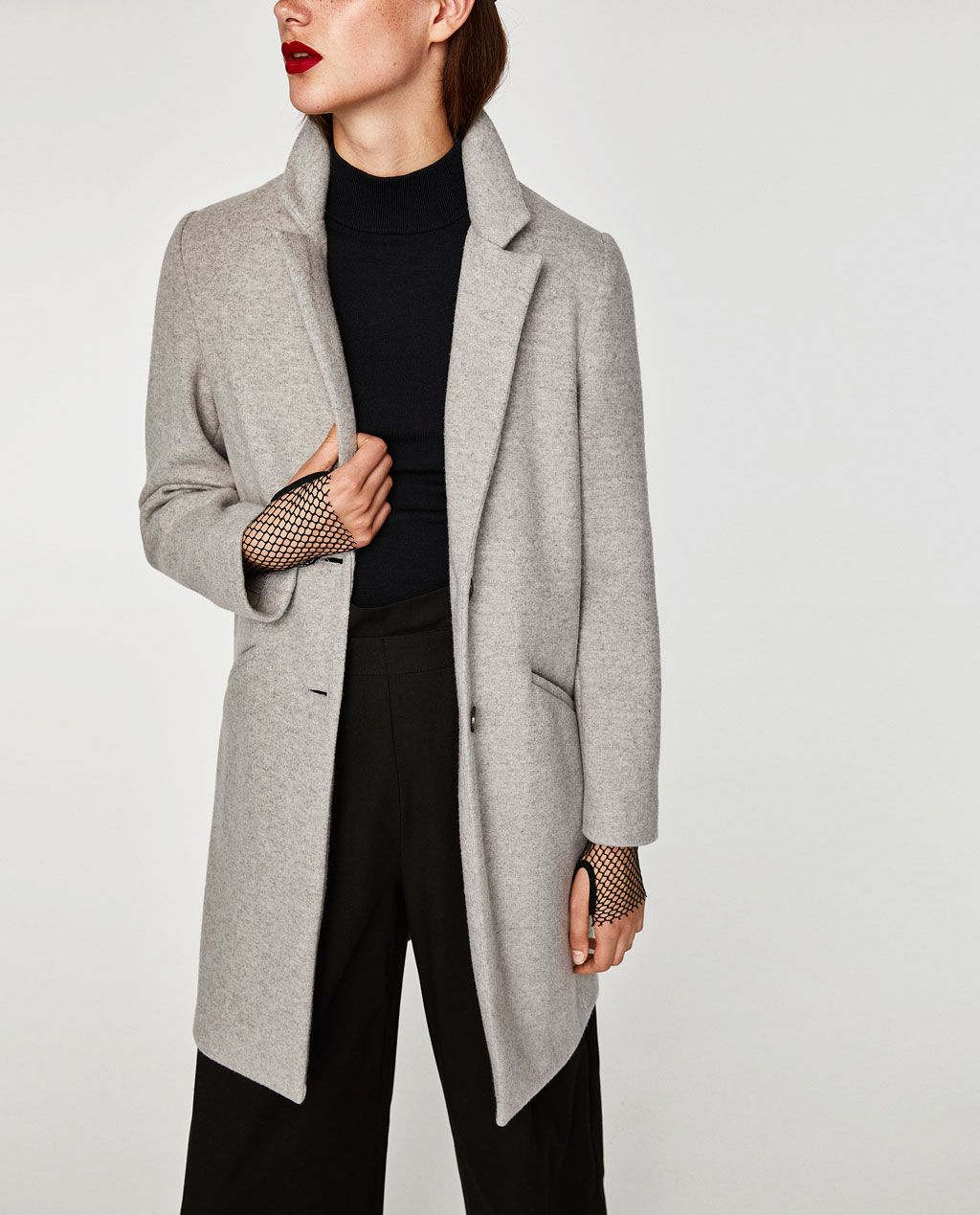 Image 2 of SUPER SOFT COAT from Zara   Wear me.   Coat, Outerwear ... afd8c2a5e0