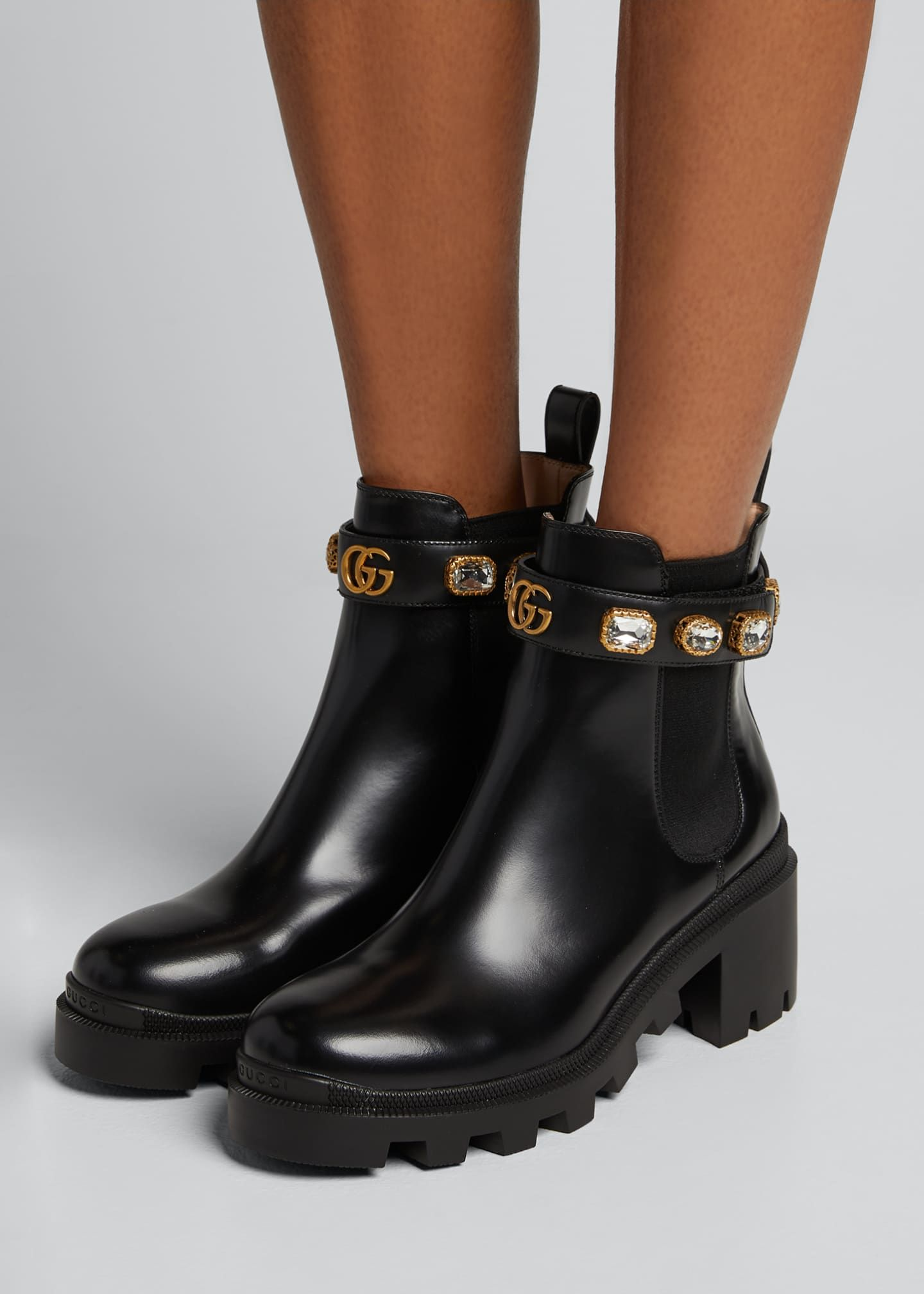 Gucci boots, Boots, Leather chelsea boots