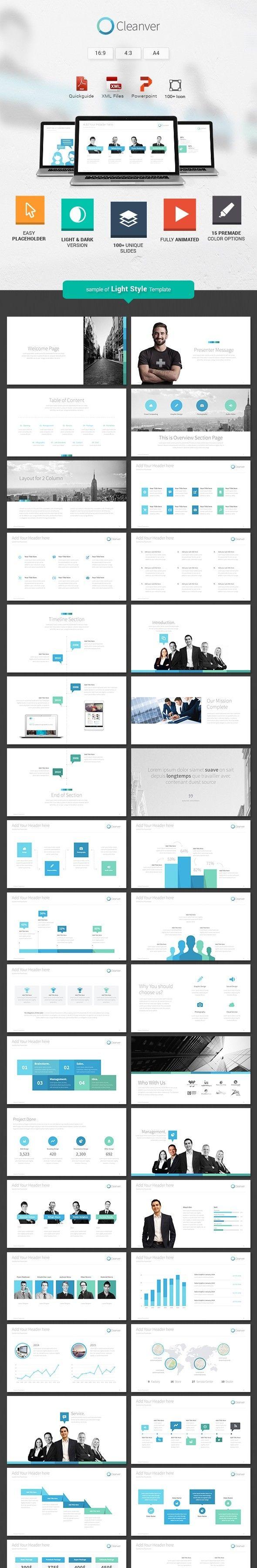 Cleanver - Clean Powerpoint Presentation | Powerpoint presentation ...