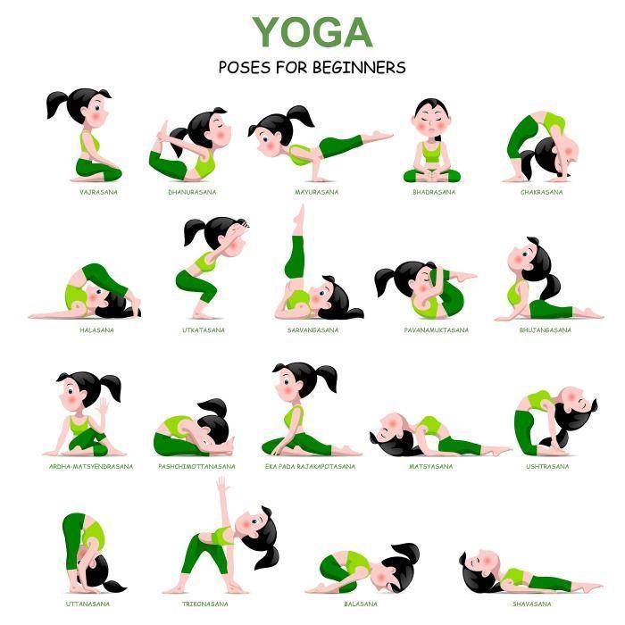 20 einfache Yoga-Posen für Anfänger mit einem kostenlosen Ausdruck   - Übungen für zuhause - #Anfäng...