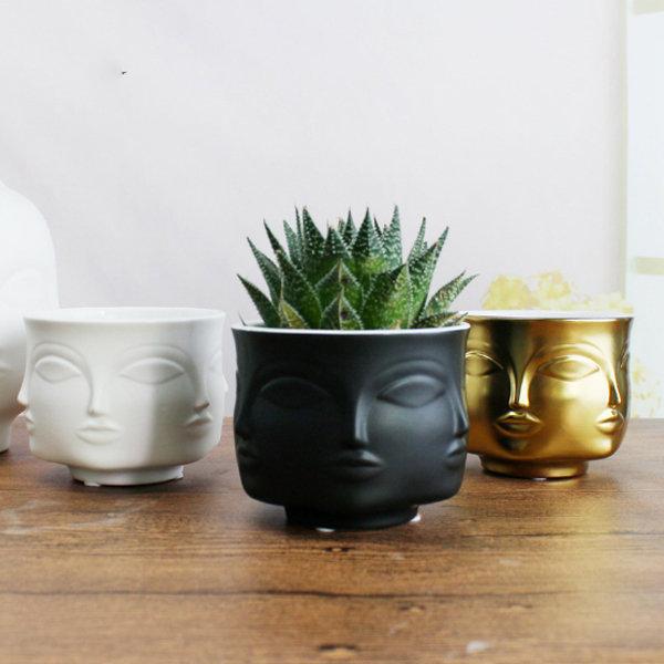 Multi Face Ceramic Planter From Apollo Box Face Planters Flower Pots Ceramic Planters