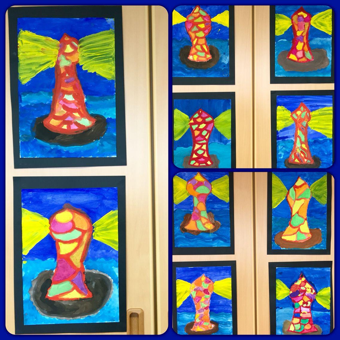 leuchtturm wasserfarben kunstunterricht malen und basteln in der grundschule pinterest. Black Bedroom Furniture Sets. Home Design Ideas