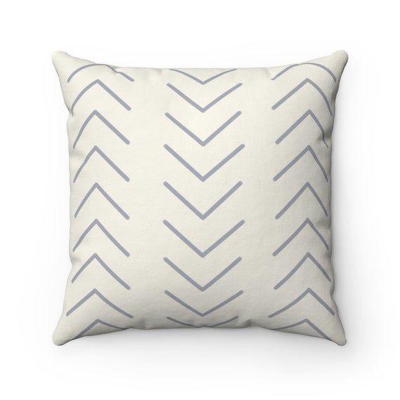 Simple Modern Pillow, Spun Polyester Square Pillow, Boho Pillow