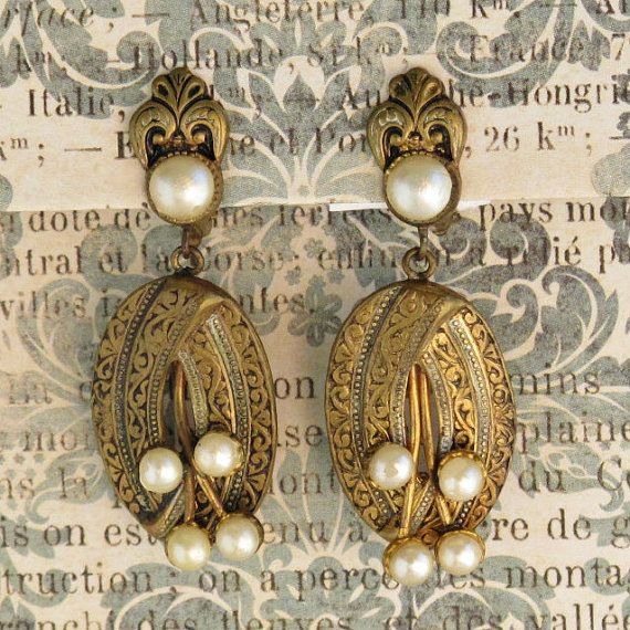 Crystal Chandelier Edmonton: Vintage Faux Pearl Earrings From Spain