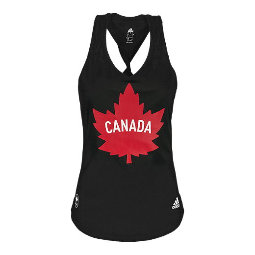 Show support for Team Canada while running in the Womens adidas Olympic Maple Leaf Run Tank. Designed to lift moisture away from your skin, you will leave sweat behind in this climalite® fabric.