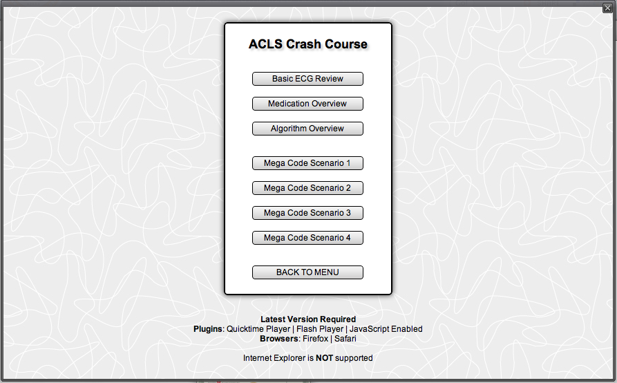 Free Online ACLS Crash Course and Mega Code Simulator. I