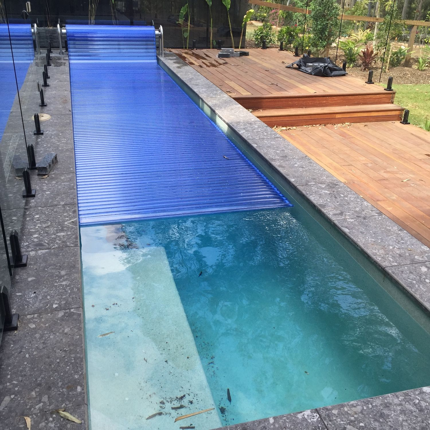 Remco AGT Swimroll swimming pool cover installed @ Underwood | Pool ...