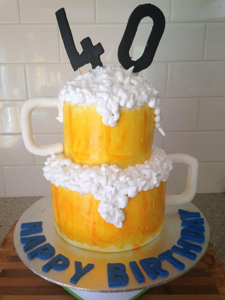 Amazing 40Th Birthday Ideas For Beer Lovers With Images Birthday Cake Beer Funny Birthday Cards Online Elaedamsfinfo