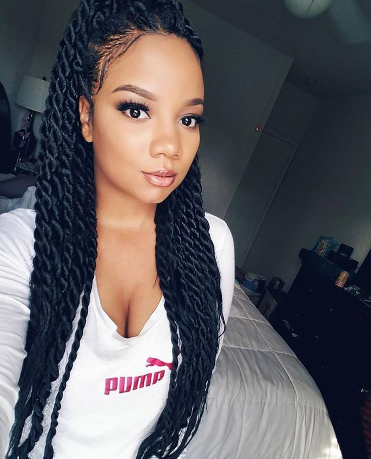 Twists Hairstyles kinky twists with an accessory Image Result For Senegalese Twist Medium Length