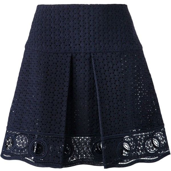 Chloe Eyelet Mini Skirt found on Polyvore