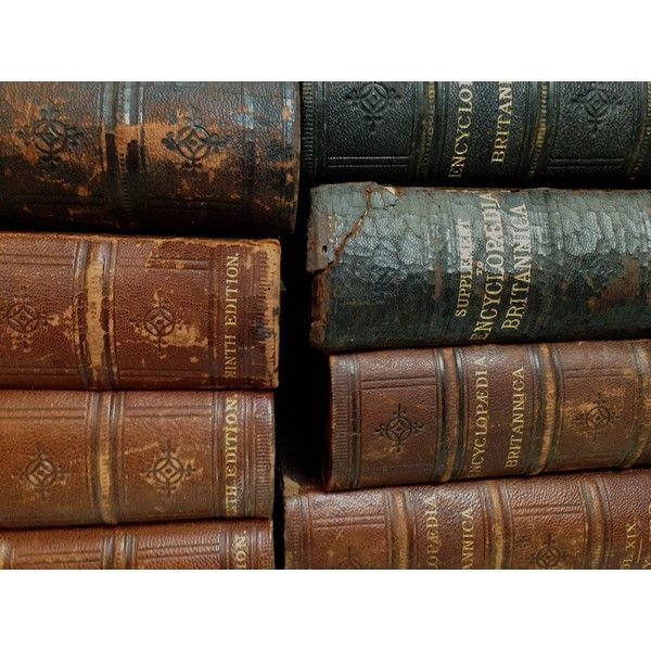 Oversized Antique 1880's Leather Bound Books, Excellent Patina, Large... ($169) ❤ liked on Polyvore featuring backgrounds and belle