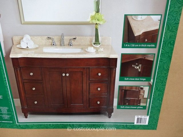 Lanza Products 48 Inch Single Sink Wood Vanity Costco 2