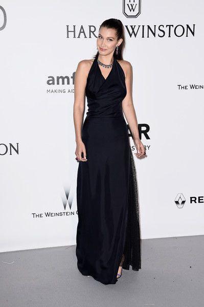 Bella Hadid arrives at amfAR's 23rd Cinema Against AIDS Gala