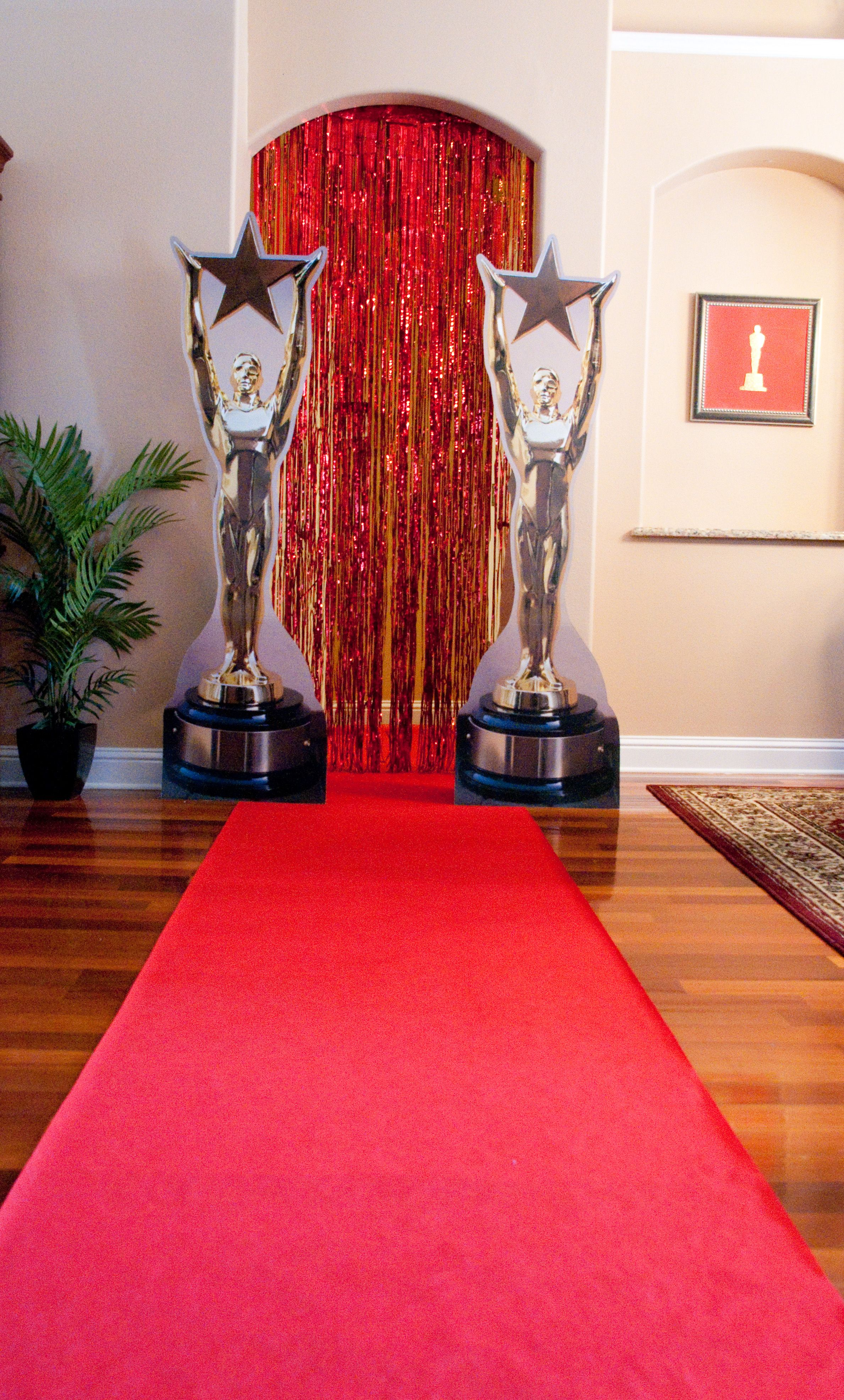 Roll out the red carpet and add cardboard standees on either side