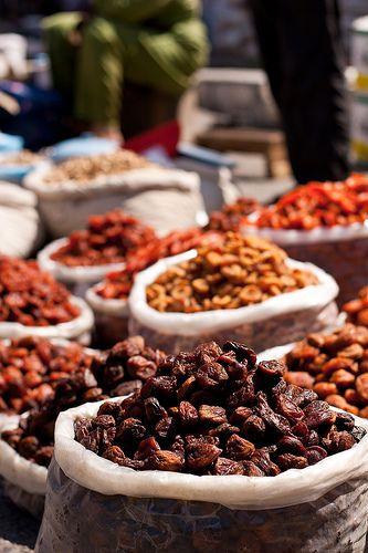 Dried fruit at Chorsu market, Tashkent, Uzbekistan