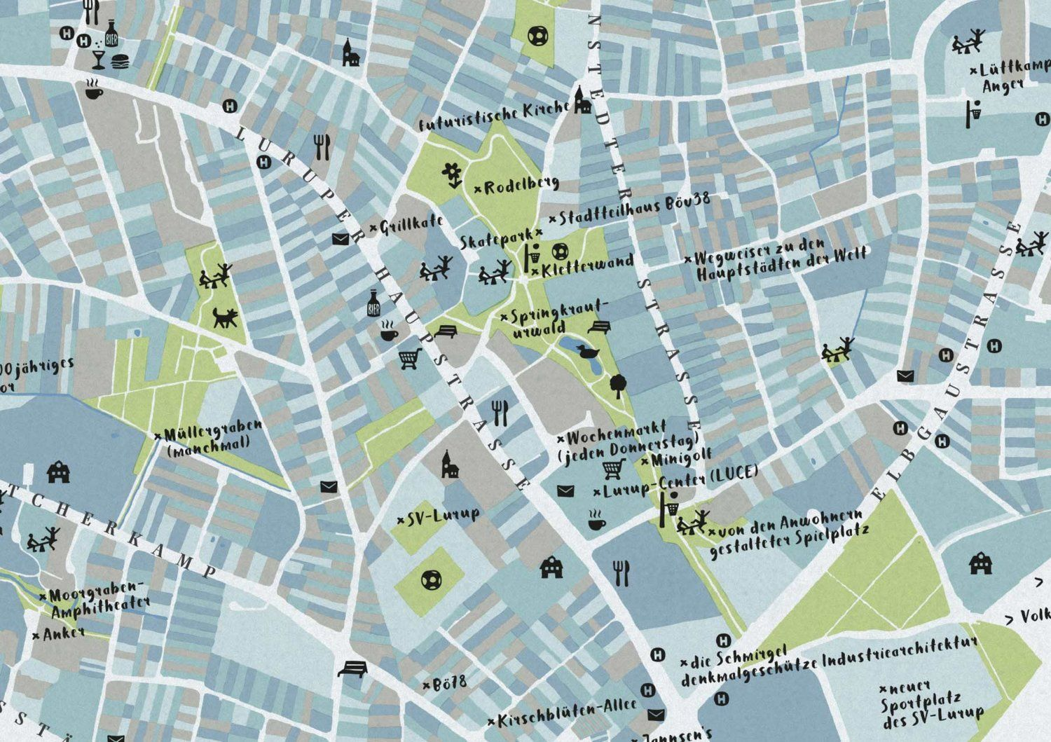 City Map Of Hamburg Lurup By Bo78 Buch Design Karten Hamburg