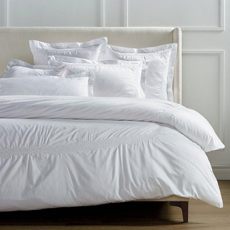 Resort Egyptian Cotton Flourish Duvet Cover Frontgate Luxury Mattresses Luxury Bedding Master Bedroom White Duvet Covers