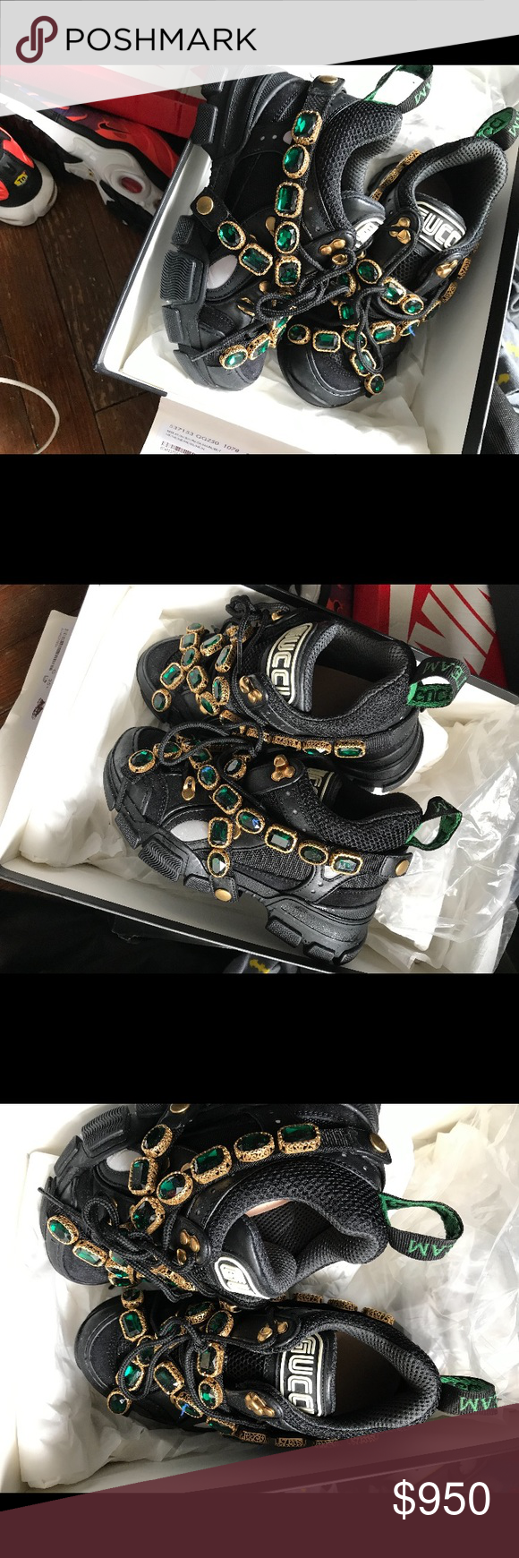 ca6b69f1a19 Spotted while shopping on Poshmark  Gucci Sneakers With Removable Crystals!   poshmark  fashion