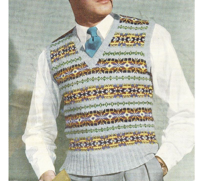 Vintage mens fair isle | Fair Isle | Pinterest | Fair isles, Knit ...
