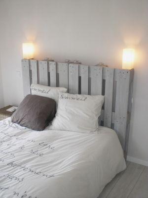 Alexie Une Tete De Lit En Palette Ca Peut Le Faire Cadre De Lit Blanc Deco Chambre Deco Maison