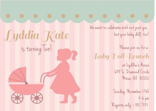Baby Doll Brunch Birthday Party Invite By PerfectHostess On Etsy