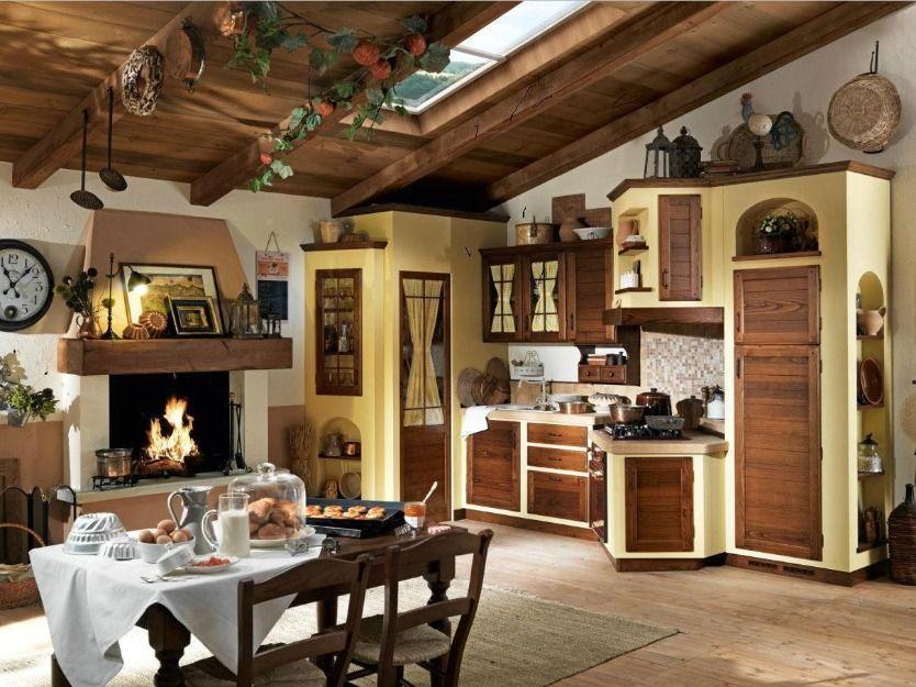 Cucina in finta muratura tutta in legno massello - Cucina in finta muratura ...