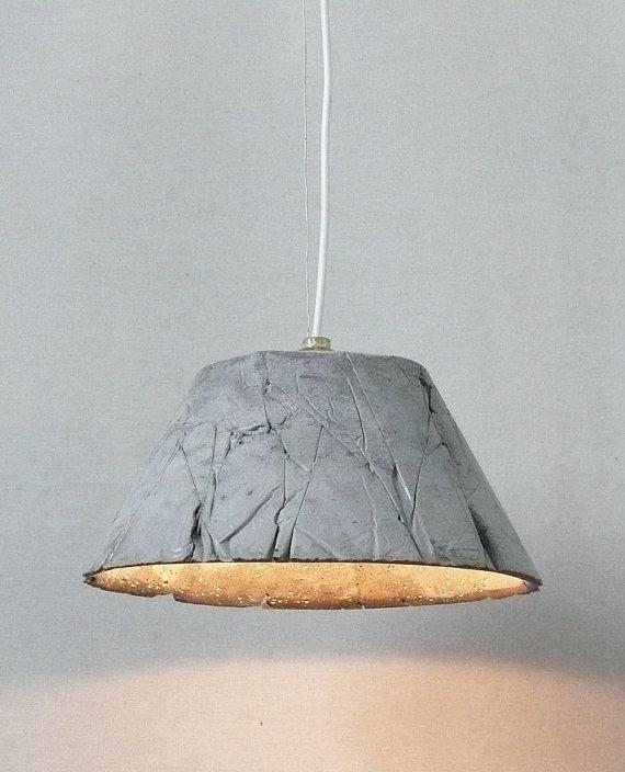 Concrete Pendant Light Catherina 30 Wrinkles By Ckleosteen On Etsy, $210.00