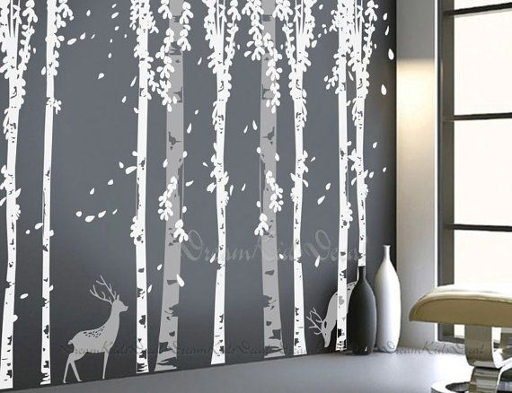 tree decal wall decals nature wall decals vinyl by DreamKidsDecal, $136.00