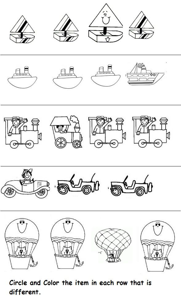 Transportation Worksheet For Kids With Images Worksheets For Kids Transportation Preschool Space Preschool