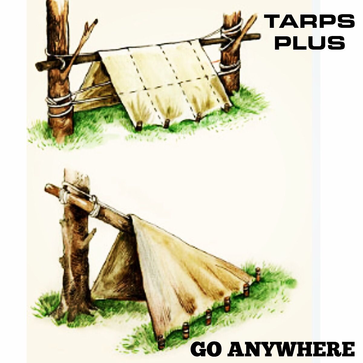 Different ways to set up a tarp for shelter when camping ...
