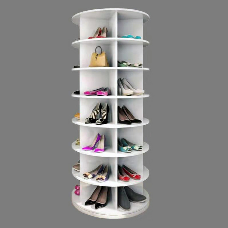 Manufacturer Wholesale White Rotating Shoe Rack For Shoe Store