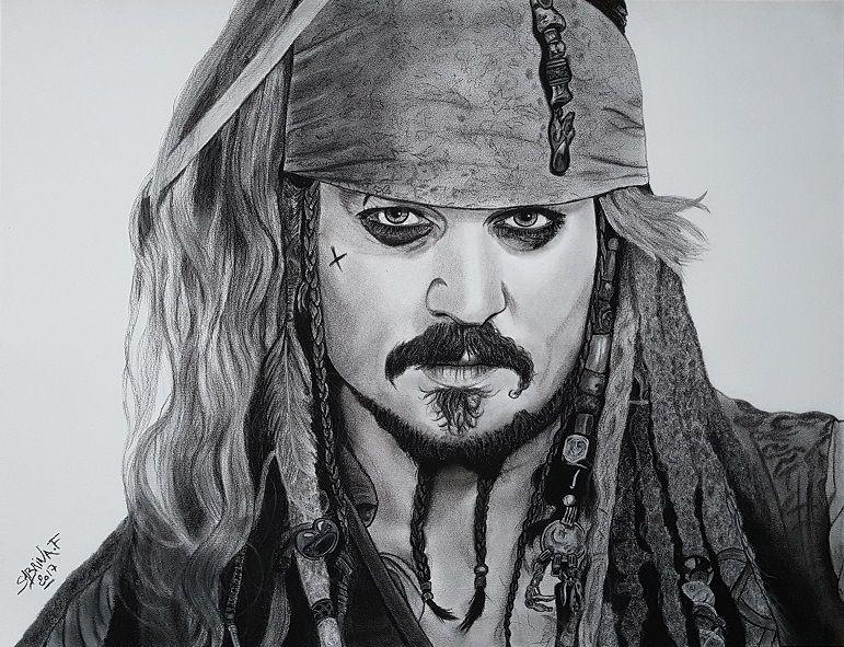 Jack sparrow pirates des cara bes dessin draw - Dessin pirate des caraibes ...