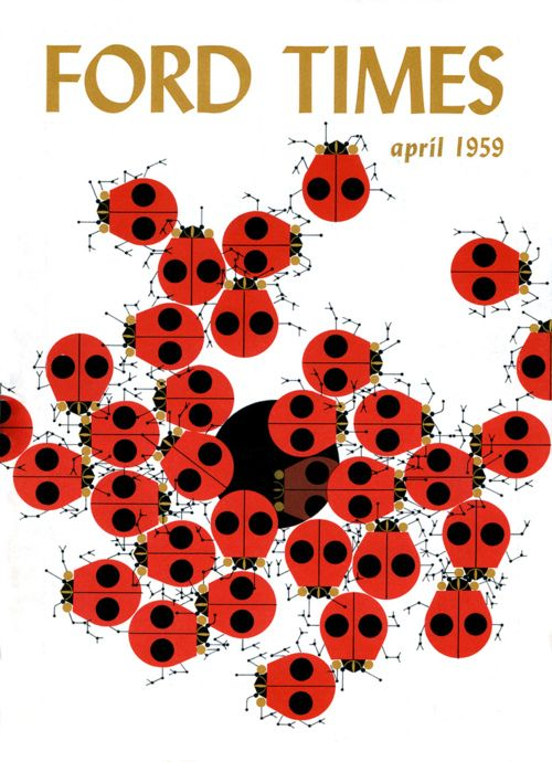 Ford Times by Charley Harper (from Mid-Century Modern Design, via ...