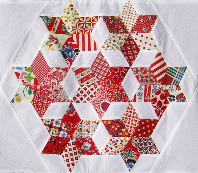 Love! - parallelogram quilt block (six-pointed stars) | Scrap ... : parallelogram quilt pattern - Adamdwight.com