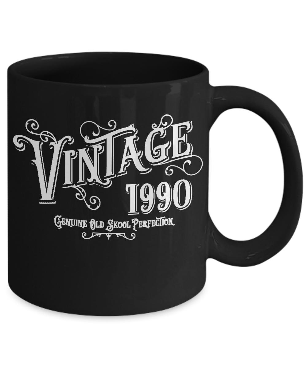 Vintage Birth Year Birthday Coffee Mug Genuine Old Skool